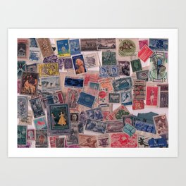 20th Century through stamps Art Print