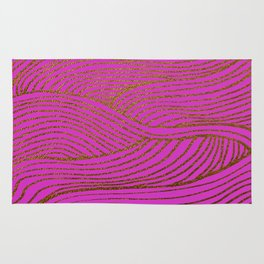 Wind Hot Pink Gold Rug