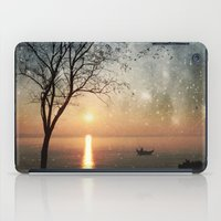 hemingway iPad Cases featuring The old man and the sea by Paula Belle Flores