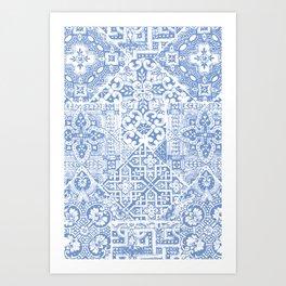 celtic cloud blue Art Print