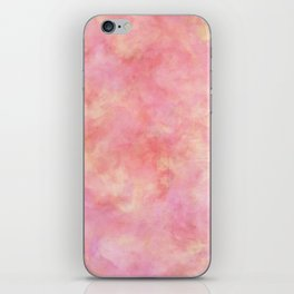 Blush Pink & Peach Marble Watercolor Texture iPhone Skin