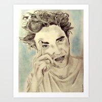 robert farkas Art Prints featuring Robert by Katerina Gold