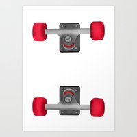 skateboard Art Prints featuring Skateboard Trucks by mailboxdisco