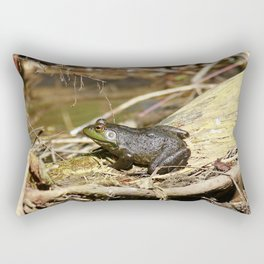 Bull Frog Rectangular Pillow