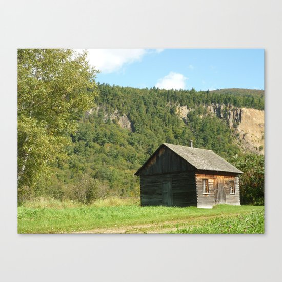Woodcabin Canvas Print