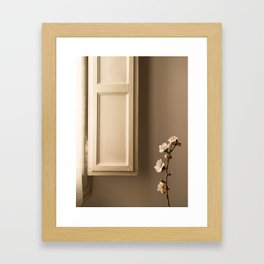 When the morning light paints the spring at home Framed Art Print