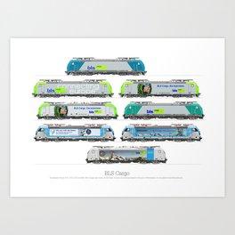 Locomotives - BLS Cargo - by Railcolor Art Print