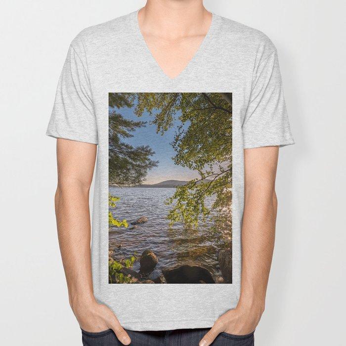 Secret Place By The Lake Unisex V-Neck