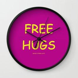 Free Hugs While Stocks Last Wall Clock