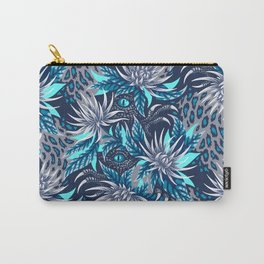 Hidden Creatures - Grey / Teal Carry-All Pouch