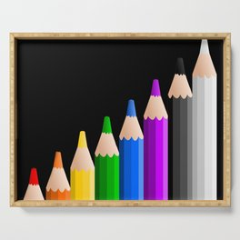 ColoredPencils Serving Tray