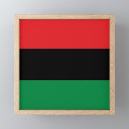 flag of Pan-Africanism or Unia Framed Mini Art Print
