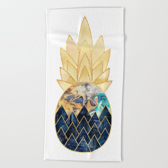 Precious Pineapple 1 Beach Towel