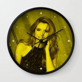 Bella Thorne - Celebrity (Florescent Color Technique) Wall Clock