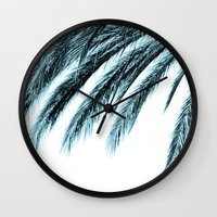 palm Wall Clocks featuring palm by Sweet Karalina