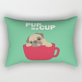 Pup in a Cup Rectangular Pillow