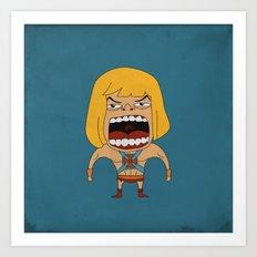Screaming He-Man Art Print