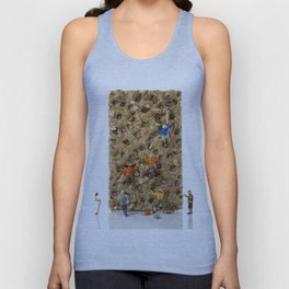 little world puppets at climbing wall Unisex Tank Top