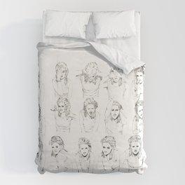 Kristen Stewart Sketches Duvet Cover
