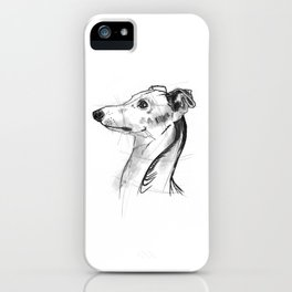 Italian Greyhound Sketch iPhone Case