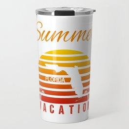 Summer Vacation Florida Miami Beach Holiday Retro Vintage Travel Mug