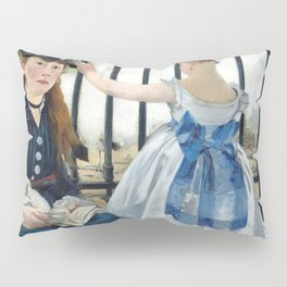 Edouard Manet - Le Chemin de fer (The Railroad) Pillow Sham
