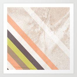 White concrete wall decor minimal interior design Art Print