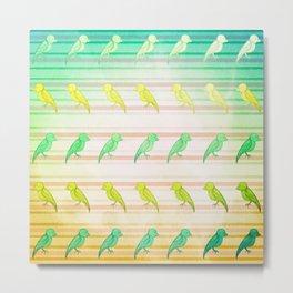 Tropical Birdies Metal Print