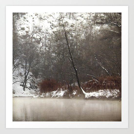 silent cold river Art Print