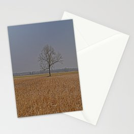 One Tree in a corn field Stationery Cards