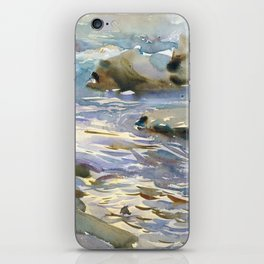 Stream and Rocks by John Singer Sargent, 1901 iPhone Skin