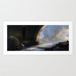 Under the Bridge Art Print