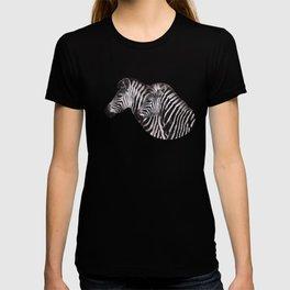 Zebra Couple Portrait T-shirt