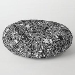 Serious Circuitry Floor Pillow