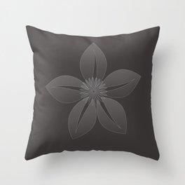 Cute Sheer Jasmin Flower Throw Pillow