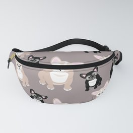 French Bulldog Puppies Fanny Pack