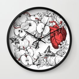 coronary apples Wall Clock
