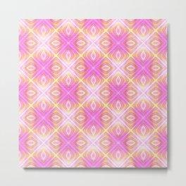 squareprint light pink Metal Print