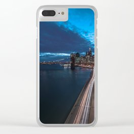 Blue Hour New York City Clear iPhone Case