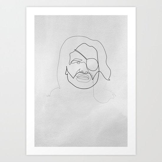 One line Snake Plissken Art Print