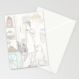 Patisserie and Poodle in Paris Stationery Cards
