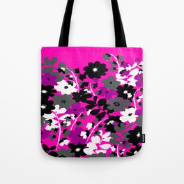 SUNFLOWER TOILE PINK BLACK GRAY WHITE PATTERN Tote Bag