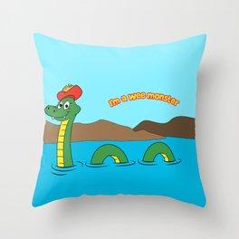 Nesie (Loch Ness Monster) Throw Pillow