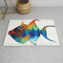 Trigger Happy Fish Art by Sharon Cummings Rug