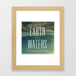 Earth//Waters Framed Art Print