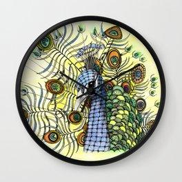 Percival Peacock in Spring Wall Clock