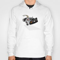 delorean Hoodies featuring Delorean (The 2015 Collection) by Cal Chan