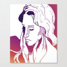 Pink Caress Canvas Print