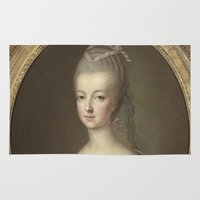 marie antoinette Area & Throw Rugs featuring Marie Antoinette by Mary
