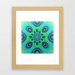 Blue & Green Fireballs Framed Art Print